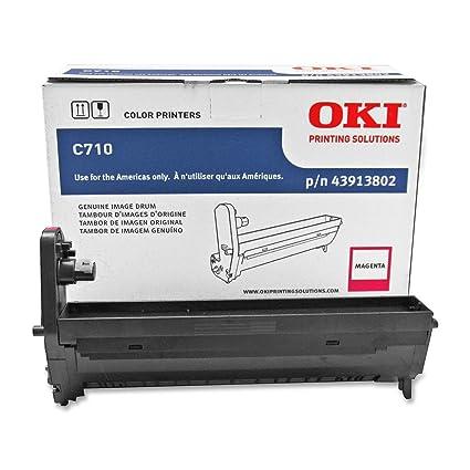 OKI Drum C710 - Tambor de impresora (Original, Magenta): Amazon.es ...