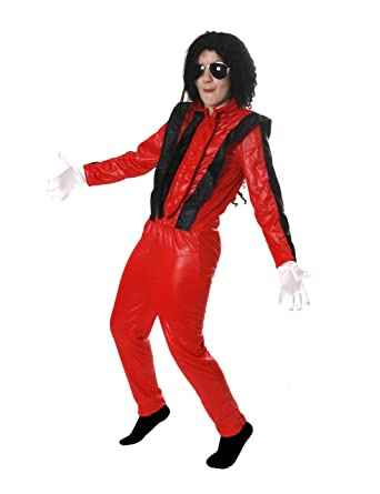 I Love Fancy Dress ILFD7020L Child King of Pop Costumes (Large)  sc 1 st  Amazon UK & CHILDS KING OF POP COSTUME FANCY DRESS RED THRILLER JACKET + ...