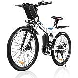 Electric Bike for Adults, VIVI Folding Electric Mountain Bicycle Adults 26 inch E-Bike 350W Motor Professional Shimano 21 Spe