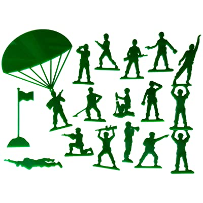 Set of 18 Army Men Acrylic Green Wall Decorations for a Kid's Toy Story Room or Andy's Room Nursery: Baby