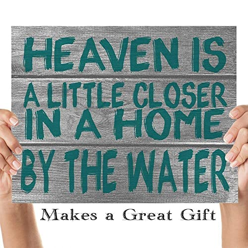 "/""Heaven/'s a little closer in a house by the Sea/"" Beach decorative Garden Flag"