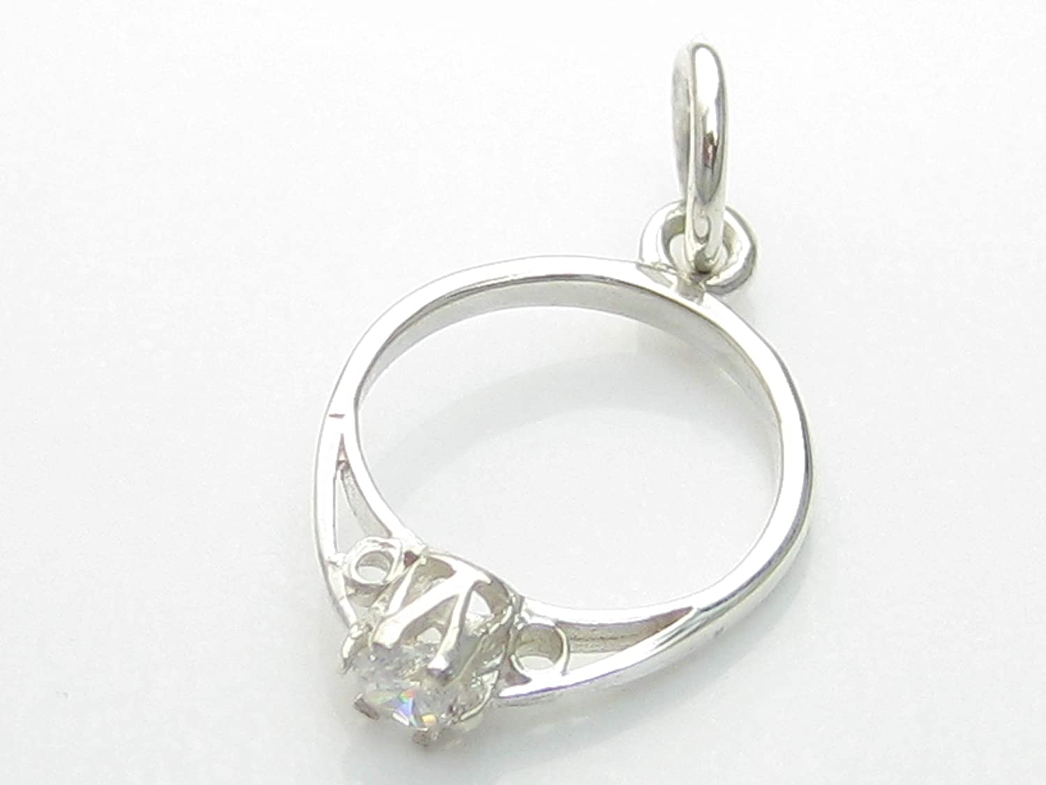 Engagement Ring sterling silver charm .925 x 1 Love charms