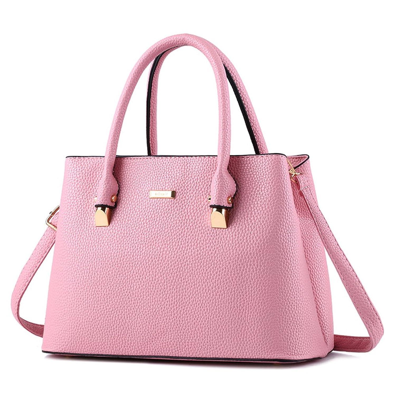 Cormodi Womens Leather Handbags Top-Handle Satchel Bags