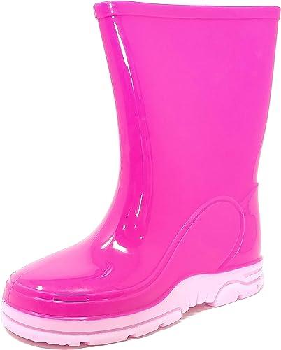 New Girls Multi Floral Flower Festival Water Wellies Boots Pink Wellington Rain