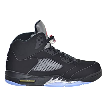 new styles f355b a5149 Image Unavailable. Image not available for. Color  Air Jordan 5 Retro OG Men s  Shoes Black Fire Red Metallic ...