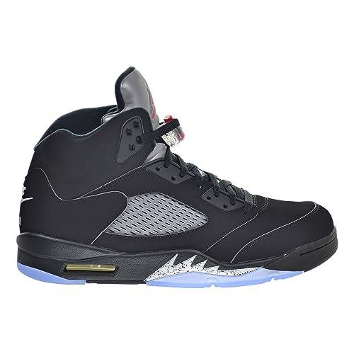 huge discount 75cf1 ad130 Air Jordan 5 Retro OG Men s Shoes Black Fire Red Metallic Silver White
