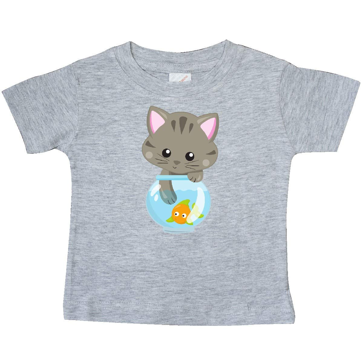 Fish Baby T-Shirt inktastic Kitty and The Fish Bowl Cute Little Cat
