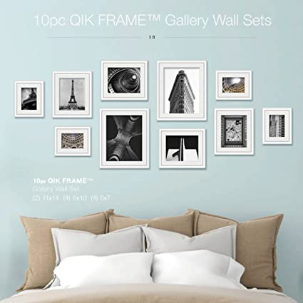 Amazoncom Qik Frame Quick Change 10 Piece Gallery Wall Set White