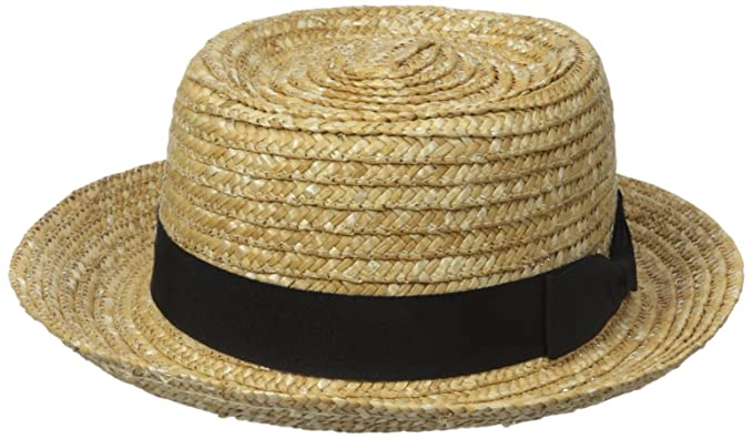 a7d916b1bd8 San Diego Hat Company Women s Straw Boater with Solid Black Bow and Band