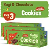 Slurrp Farm Healthy Wholegrain Cookies | Ragi and Chocolate with Zero Transfat | Yummy snack for Kids (Pack of 3)