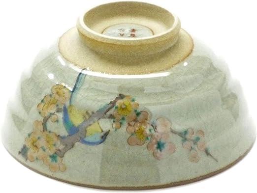 Japanese Pair Rice Bowl Flower ware Kutani Yaki