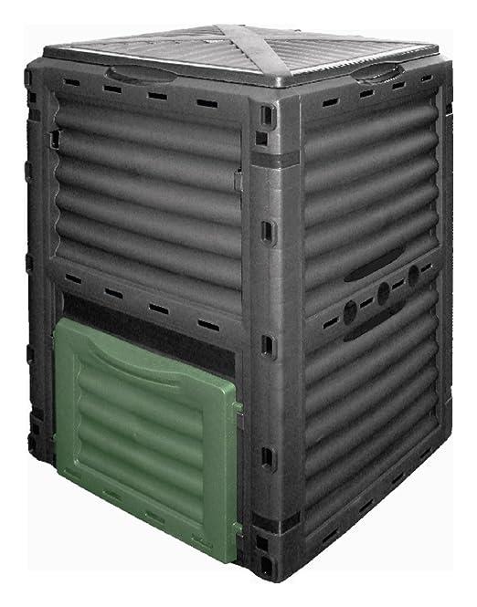 Compostador con cajas de plastico