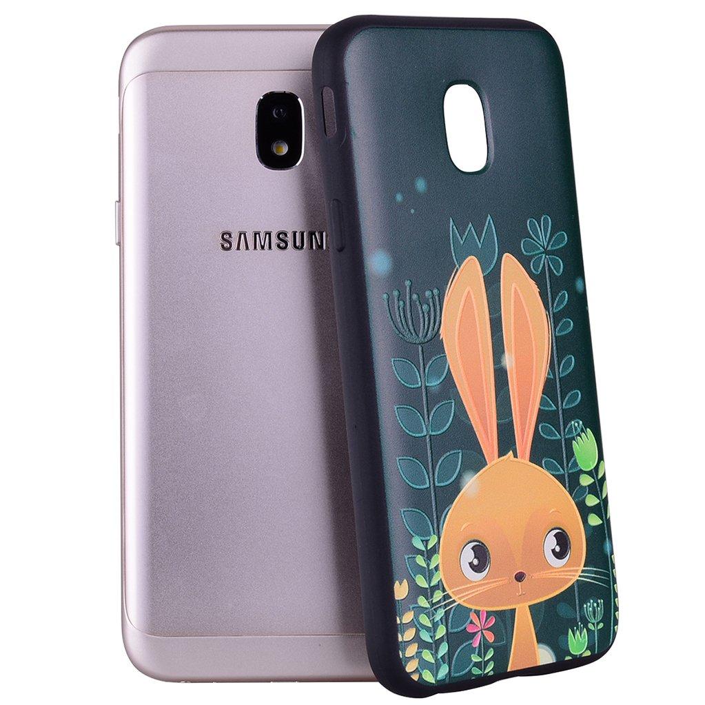 Funda Samsung Galaxy J5 2016, Yunbaozi Embossing Protective Case Carcasa de Silicona Suave Gofrado Impresión 3D Funda Caucho TPU Flexible Suave Cáscara Delgado Ligero Diseño Creativo Alivio Negro Carcasa para Samsung Galaxy J5 2016 - Unicornio arcoiris