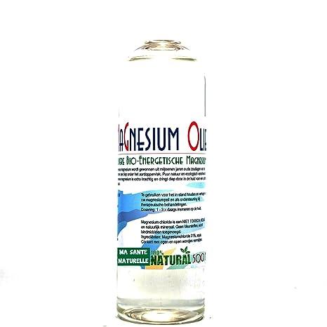 Magnesio Aceite (uso externo) botella de 500 ml (para rellenar el spray)