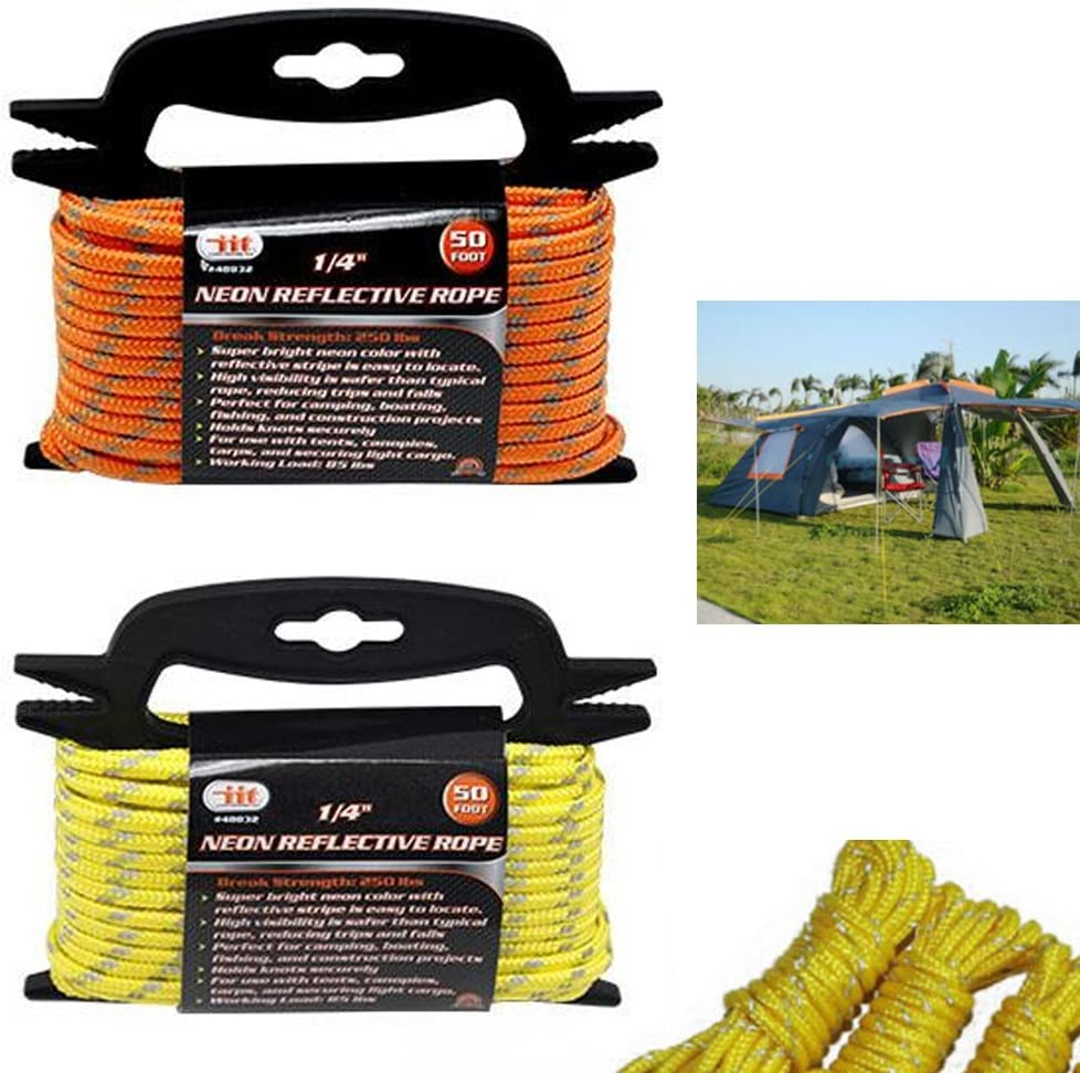 4x Reflective Guyline Tent Tarp Rope Guy Line Camping Cord Guide  Xiaob