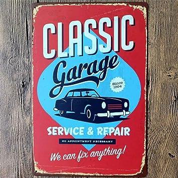Koolol Señal De Metal Decoración De Garaje Antiguo Diseño Vintage