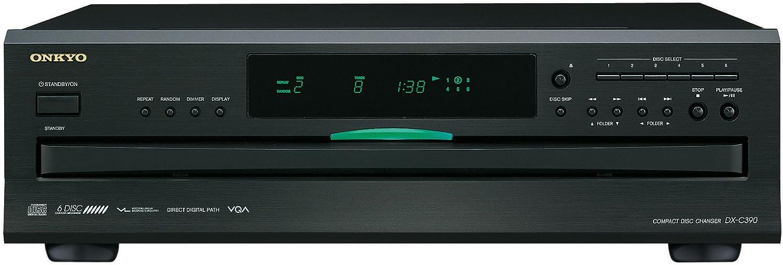 Onkyo DX-C390-B 6-Disc CD Carousel Changer - Black