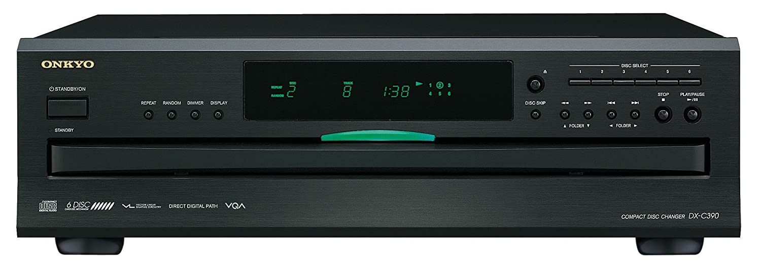 Onkyo DX-C390-B 6-Disc CD Carousel Changer - Black