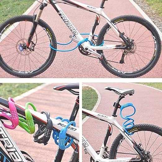 Numero di 4 cifre ripristinabile Blocco Password Password Bici Blocchi Catena Bici per Bicicletta allaperto Nero VOANZO 2pcs Cavo di Blocco per Bicicletta