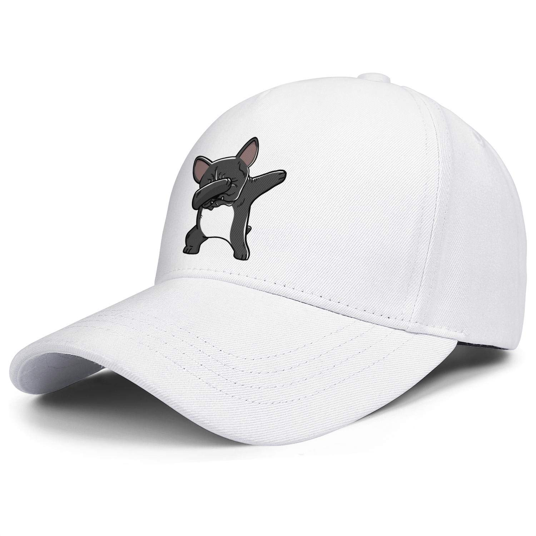 Dabbing French Bulldog Funny Unisex Baseball Cap Cooling Sun Hats Adjustable Trucker Caps Dad-Hat