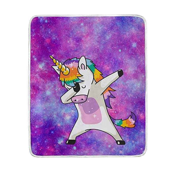 Amazon.com: XMCL Nebula Galaxy Dab Unicorn Warm Throw ...
