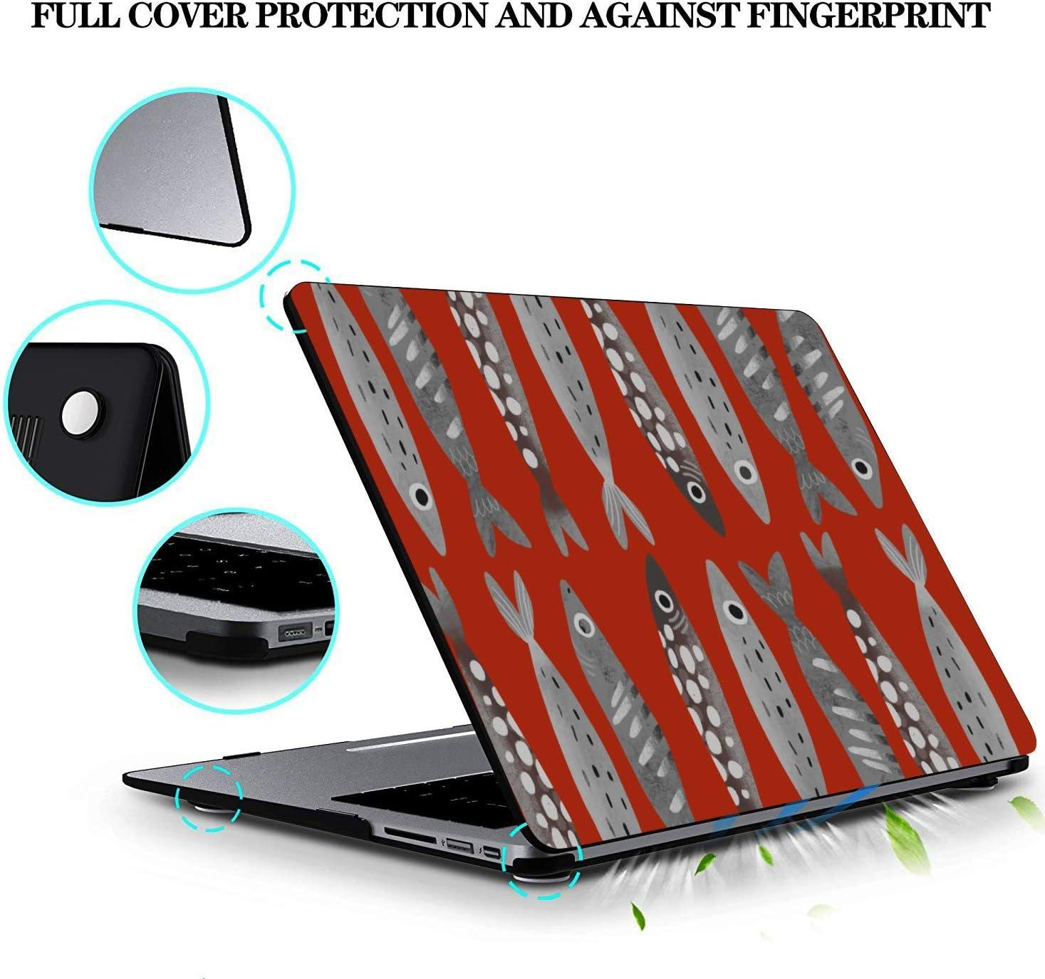 2017 MacBook Pro Case Sea Creatures Ornamental Fish Squid Plastic Hard Shell Compatible Mac Air 11 Pro 13 15 MacBook Cover Protection for MacBook 2016-2019 Version
