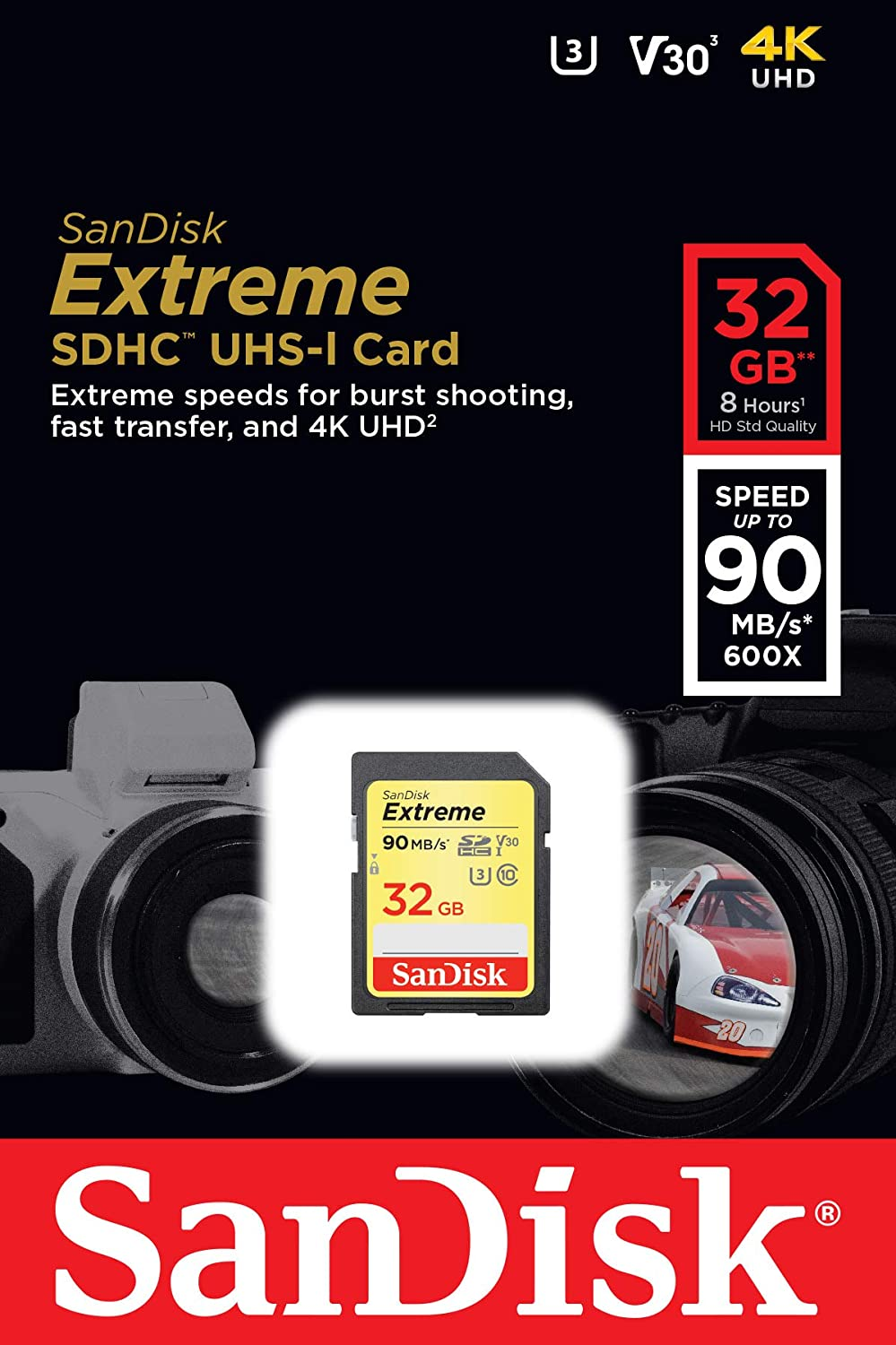 Sandisk Extreme 32gb Sdhc Memory Card Up To 90mb Computer Zubehör