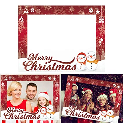 Amazon Com Cqi Christmas Party Supplies Photo Booth Picture Frame