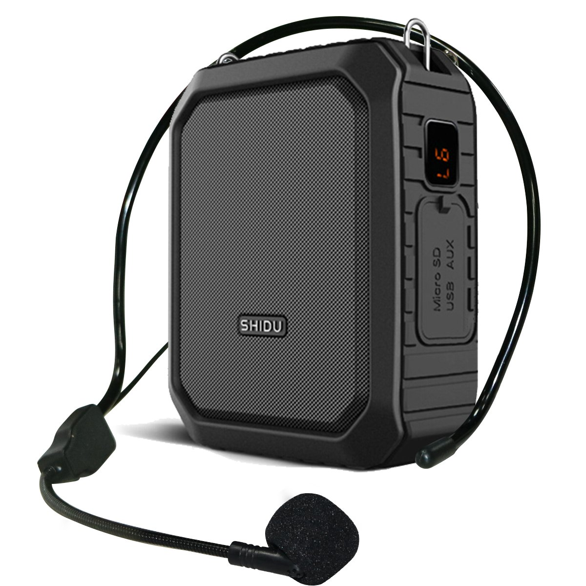 Voice Amplifier Bluetooth Loudspeaker with Wire Headset Mic, Voice Saver Waterproof Personal 18 Watts Big Power Pa System for Outdoor/Teachers/ Yoga Instructors/Coaches/ Elderly/Tour Guide (Black)
