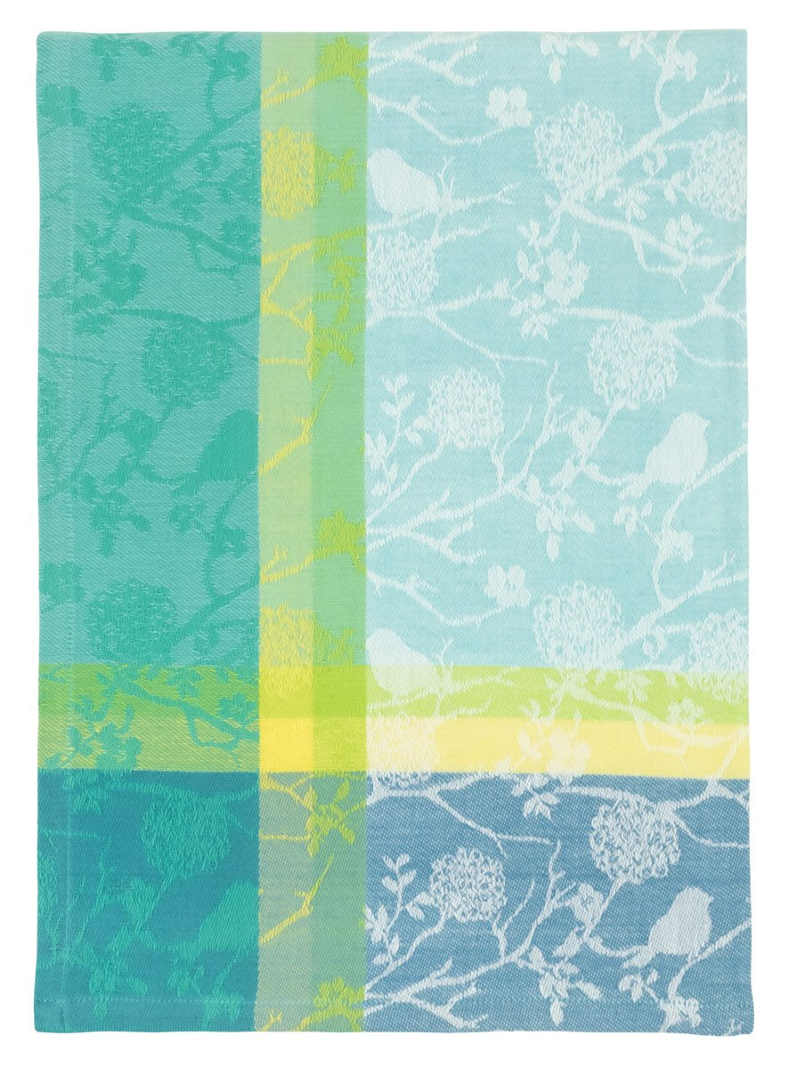 Traders and Company 100% Cotton Blue & Yellow 20''x28'' Dish Towel, Set of 6 - Songbird by Traders and Company
