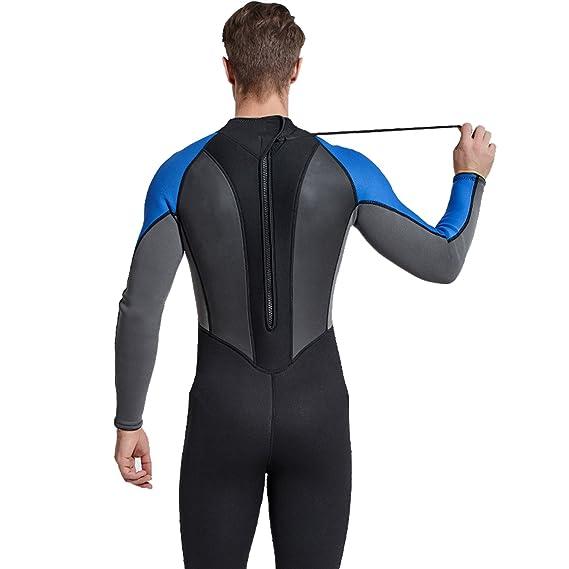 fb5c9d1fc6 Cahayi Mens Full Wetsuit Neoprene 3mm Long Sleeve Diving Surfing Suit Plus  Size
