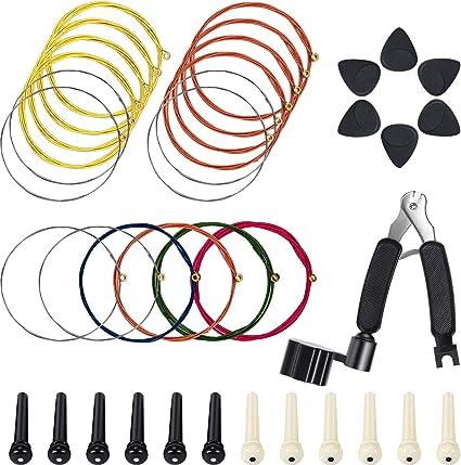Boao - Juego de herramientas de cuerdas para guitarra (3 en 1, 3 ...