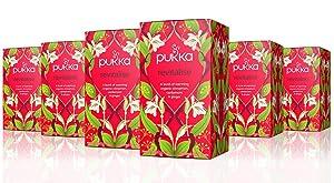 Pukka Revitalise, Organic Herbal Tea with Cinnamon, Cardamom & Ginger (6 Pack, 120 Tea Bags)