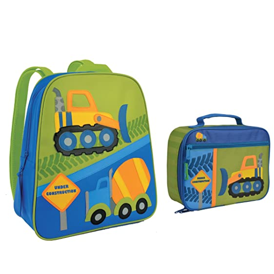 Amazon.com | Stephen Joseph Boys Construction Backpack and Lunch ...