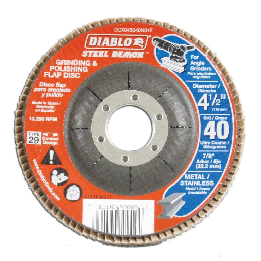 Diablo Steel Demon 40-Grit Grinding & Polishing 4.5