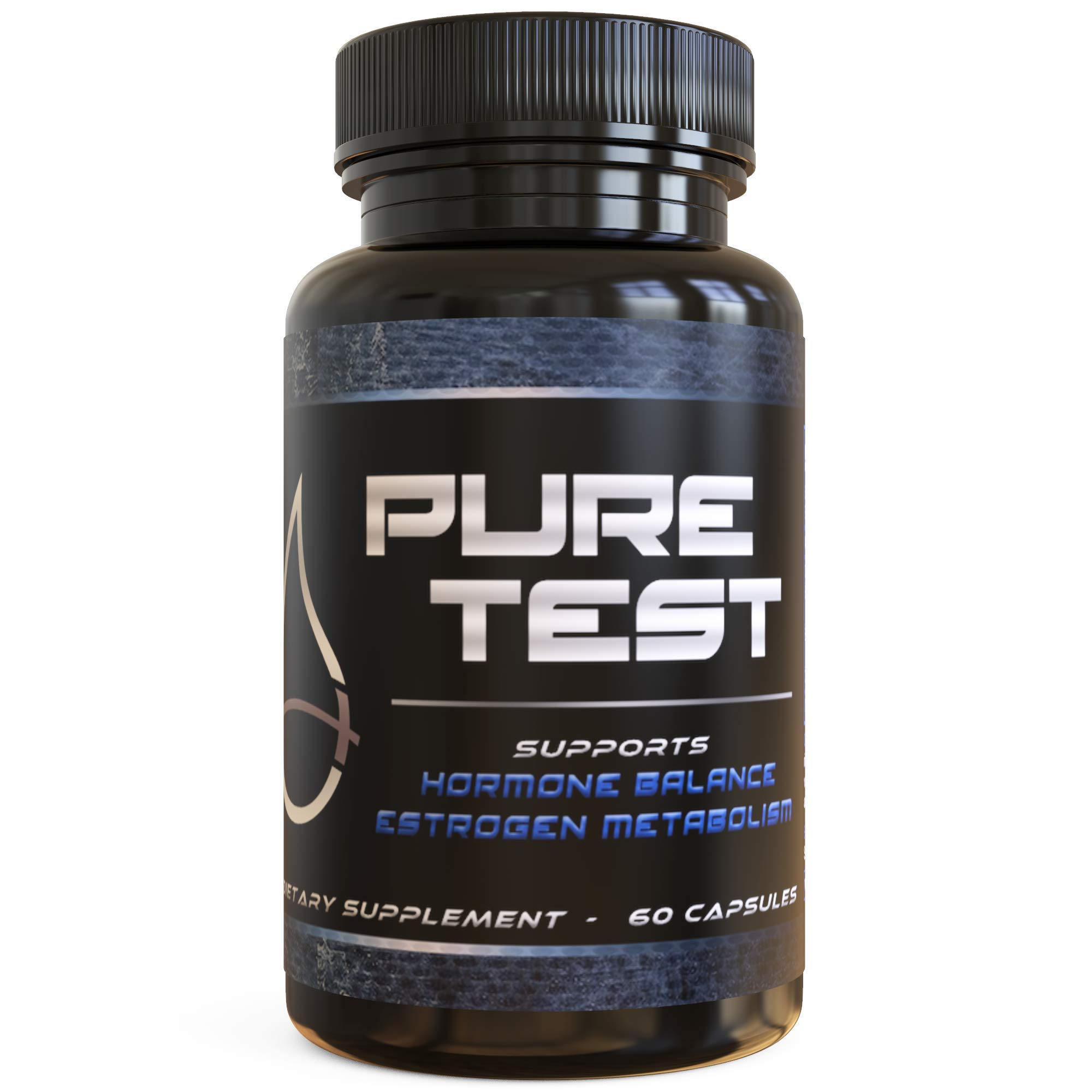 PURE TEST by Pure Sweat All Natural Estrogen Blocker for Men - Natural Anti-Estrogen, Testosterone Booster - Boost Muscle Growth & Fat Loss - DIM