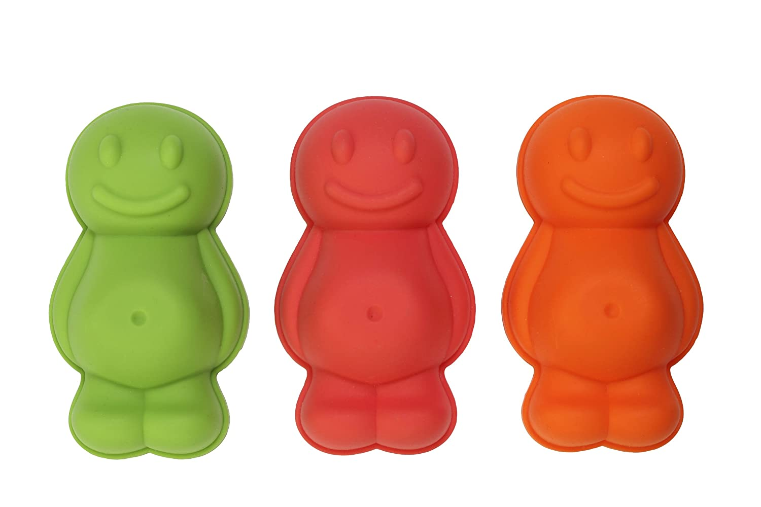 Dexam Silicone Jelly Baby Moulds, Set of 3, Red/Orange/ Green 17841449