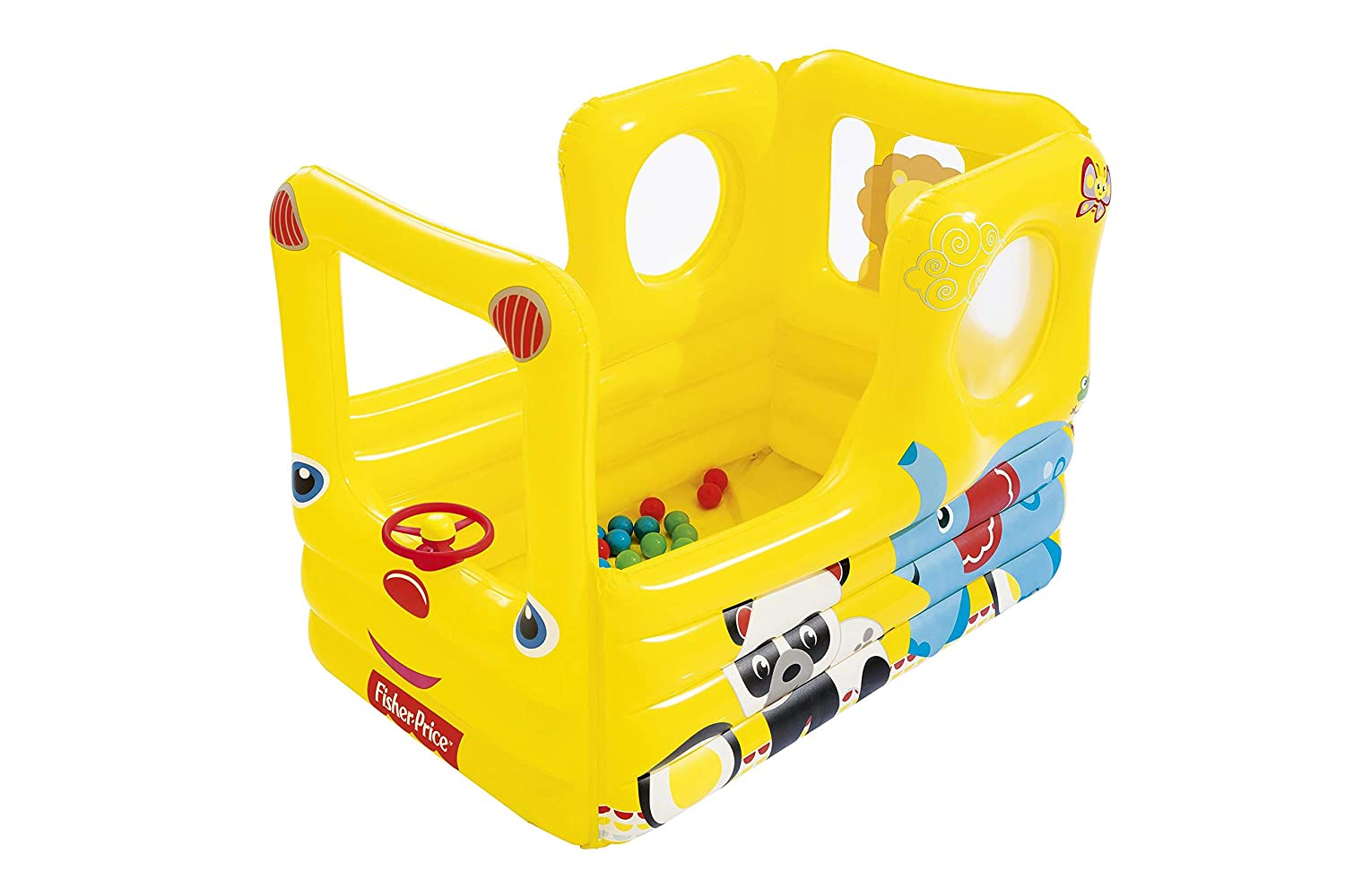 Piscina de Bolas Hinchable Bestway Fisher Price Coche de Carreras ...