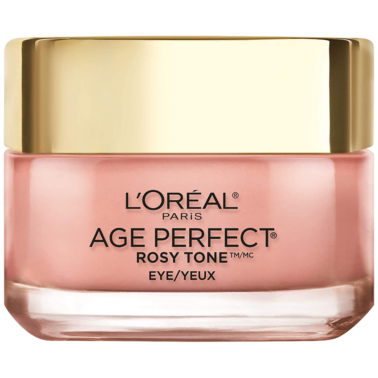 Eye Brightener Eye Cream by L'Oreal Paris Skin Care I Age Perfect Rosy Tone Eye Brightener to Visibly Color Correct Dark Circles I Fragrance Free I 0.5oz