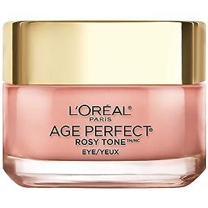 Eye Brightener Eye Cream by L'Oreal Paris Skin Care I Age Perfect Rosy Tone Eye Brightener to Visibly Color Correct Dark Circles I Fragrance Free I 0.5oz