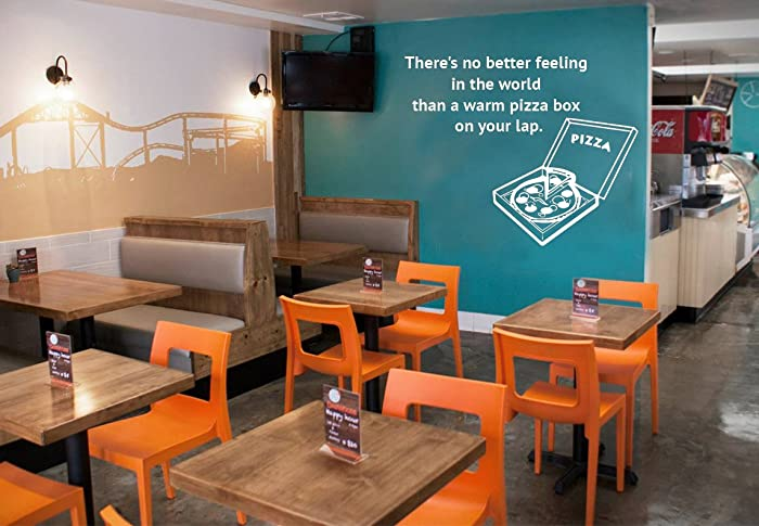 Amazoncom Pizza Quotes Wall Decal Vinyl Wall Decal