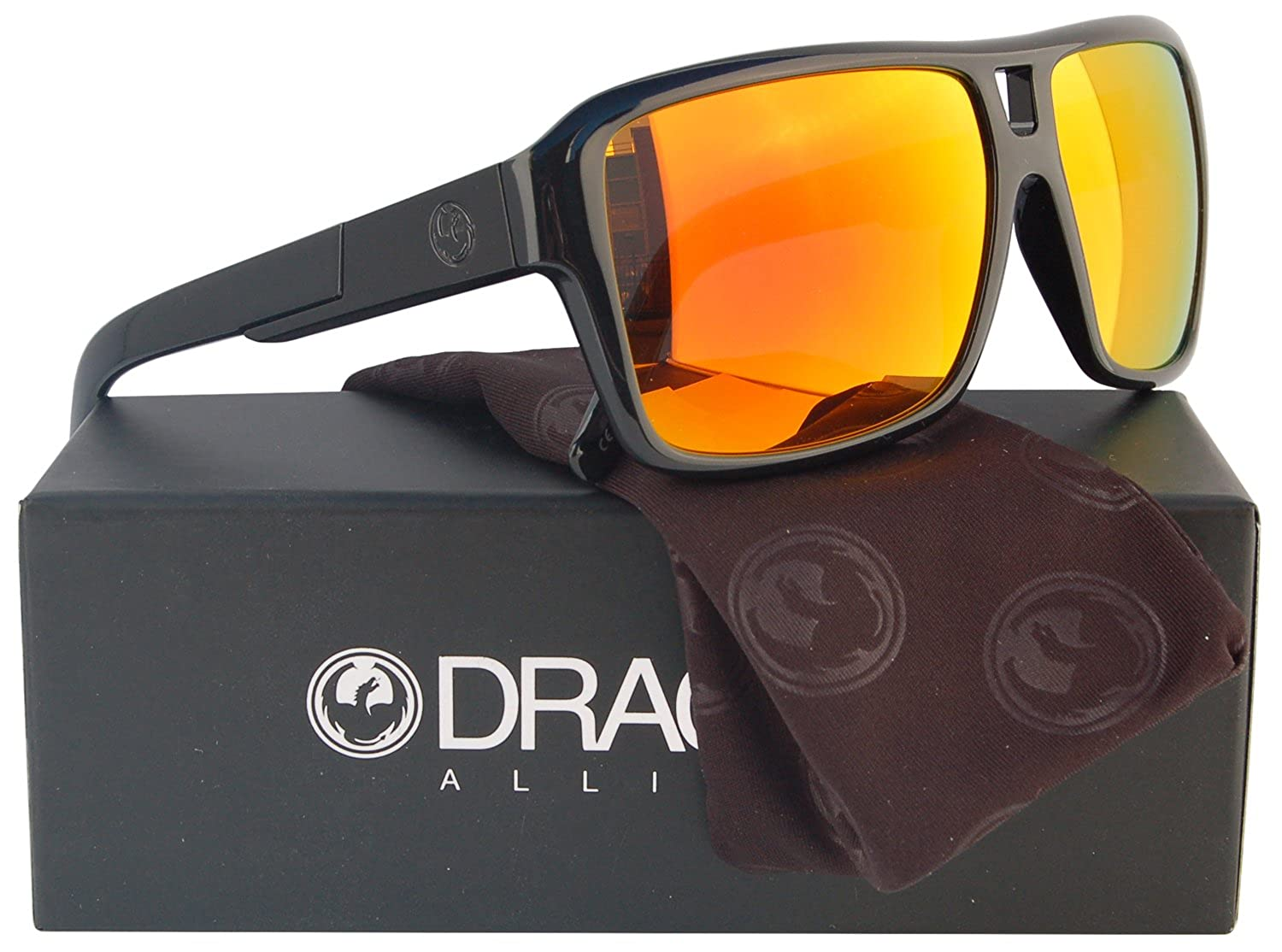 cfd0aab56c 50%OFF Dragon Alliance The Jam Sunglasses Shiny Black w  Red Ion Mirror 720