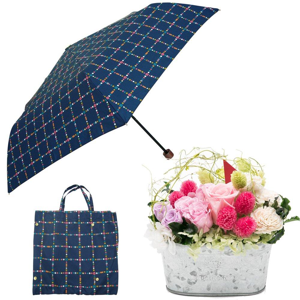 母の日ギフト プリザーブドフラワーと折り畳み傘のギフトセット B07CJ5MY18 お花:Lサイズ|キャンディチェック キャンディチェック お花:Lサイズ