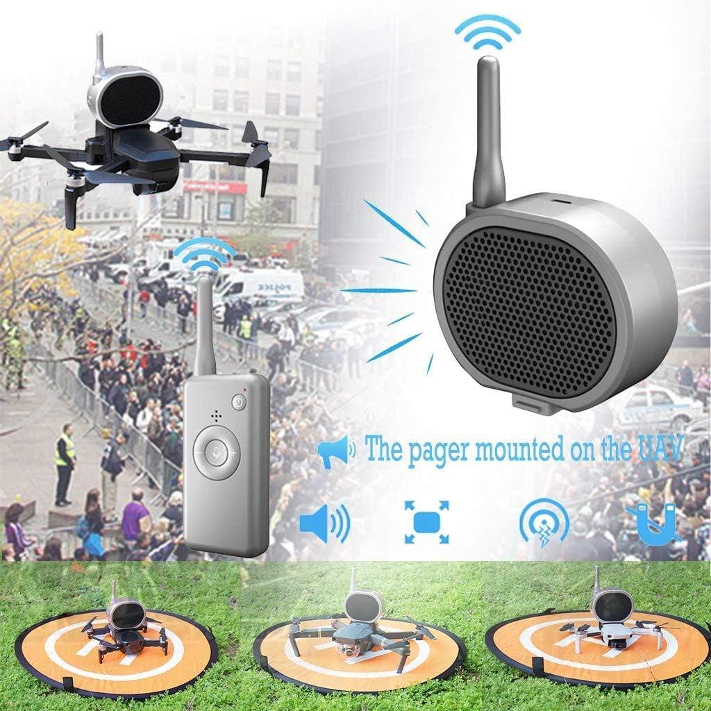 Mavic Pro 2 Mavic Air//Phantom 3 4 Mini haut-parleur m/égaphone en temps r/éel Mavic Mini Xiaomi Drone amplificateur de microphone portable sans interf/érence longue distance pour DJI Mavic Air 2
