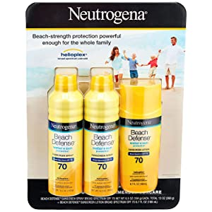 Neutrogena Beach Defense SPF 70 Sunscreen Spray & Lotion Mix Pack (Spray & Lotion)