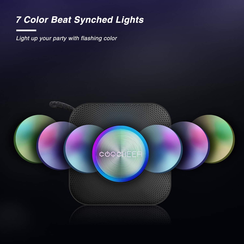 Altavoces portátiles Bluetooth,Inalámbrico luz de Fiesta Altavoz pequeño, Caja de música TWS Bluetooth 5.0 con micrófono Incorporado, DSP/TF/AUX, ...