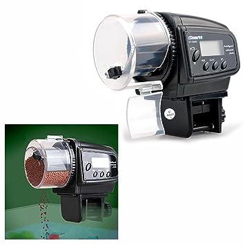 Gearmax® Pantalla Lcd Auto Fish Feeder acuario Fish Tank Alimentos temporizador automático: Amazon.es: Electrónica