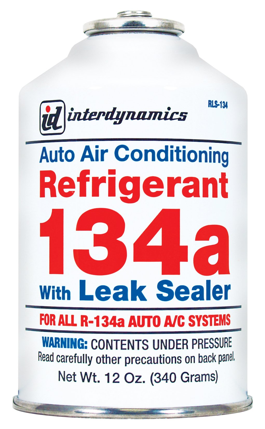 Interdynamics (RLS-134CA-12PK) R-134a Refrigerant with Leak Sealer - 12 oz., (Pack of 12) by Interdynamics