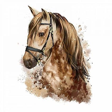 nikima - 085 Wandtattoo Pferd Kopf braun Kinderzimmer Deko - in 5 Größen -  niedliche Kinderzimmer Sticker und Aufkleber süße Wanddeko Wandbild Junge  ...