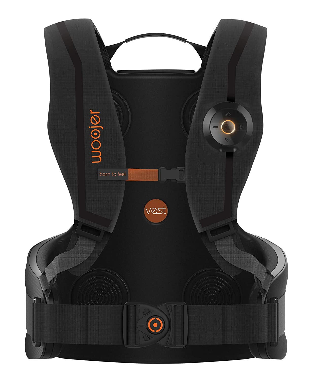 Woojer Vest Pro: Powerful Location-Specific haptic Vest with a Built-in 7 1  Surround Card That Delivers The Ultimate, Full 360° immersive Experience